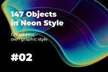147 Objects in Neon Style #02 by  in Graphics
