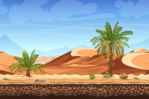 Palm trees in desert