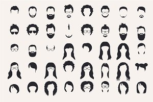 Hairstyle and beards.