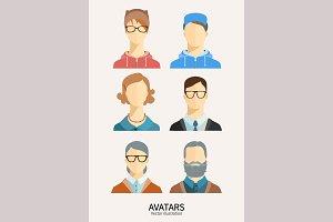 Set of avatar icons. Family.
