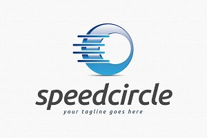 Speed Circle Logo Template
