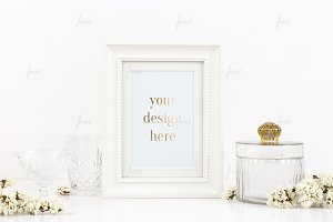 White frame photo-based mockup