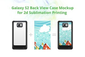 Galaxy S2 2d Case Back Mock-up
