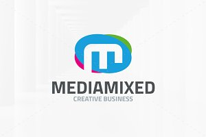 Media Mixed - Letter M Logo