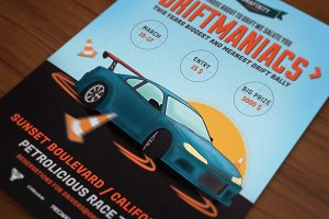 Driftmaniacs Car Poster/Flyer VII