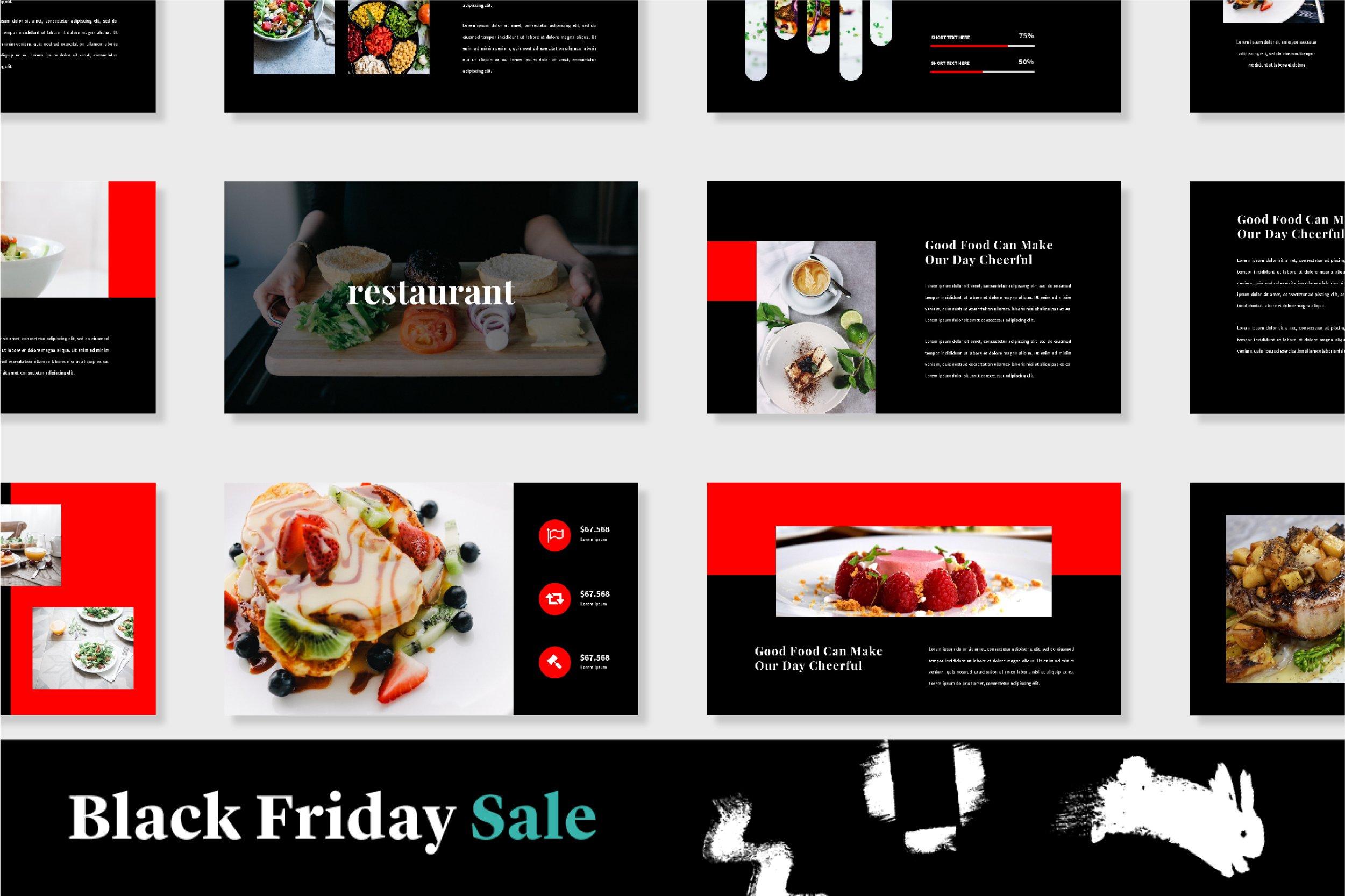 Restaurant Powerpoint Template Creative Powerpoint Templates Creative Market