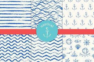 Nautical pattern set