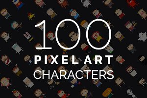 100 Pixel Art Characters