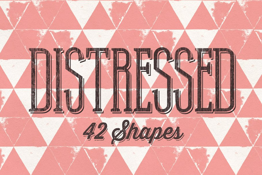 42 Distressed Shapes