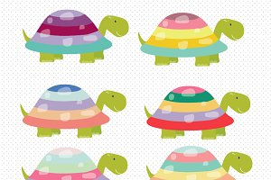 Cute Turtles Clipart