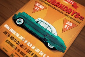 Cubandays Car Poster/Flyer IV