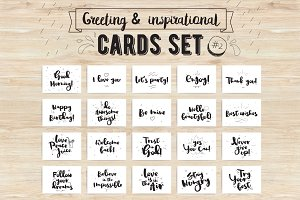 Greeting & inspirational cards set