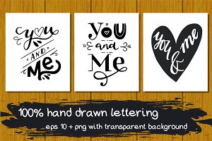 50% OFF! You And Me Lettering