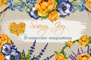 Sunny Joy 10 Compositions clip arts