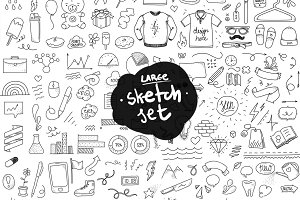 Sketchy objects, large set.