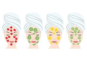 Fruit Facial beauty mask set