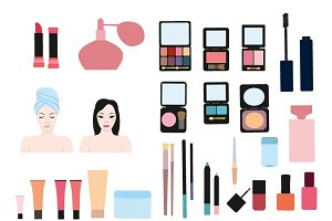 Clip art  color cosmetic  set