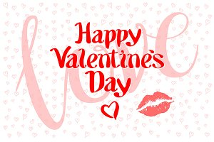 happy valentines day love kiss heart