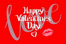 happy valentines day red love kiss