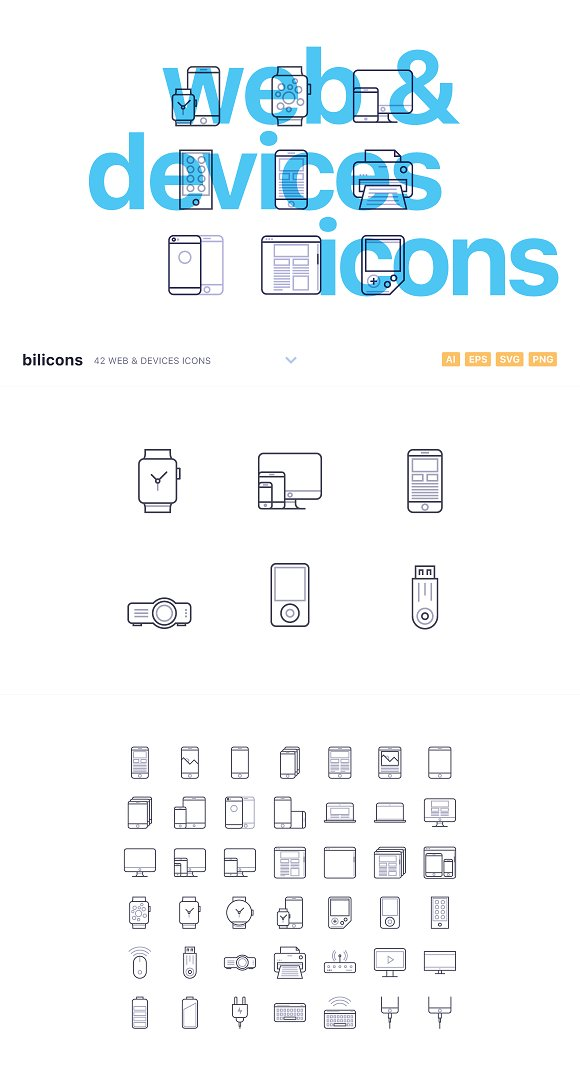 42 Web & Devices Icons