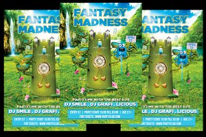 Fantasy Madness Flyer + FB Cover