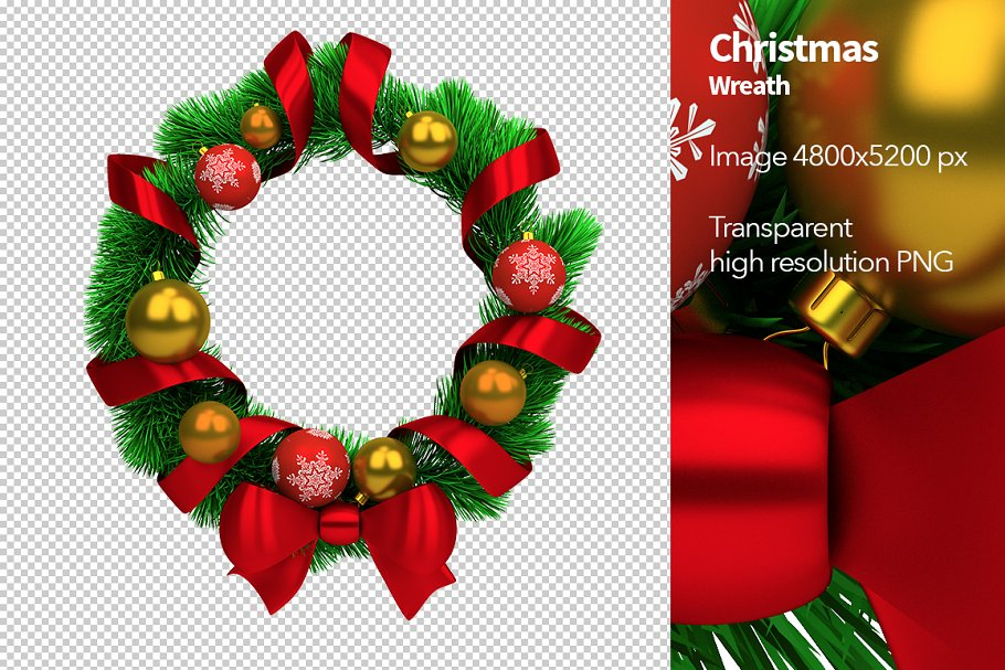 Christmas Wreath Graphic Objects Creative Market