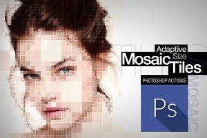 Adaptive Size Mosaic Tiles