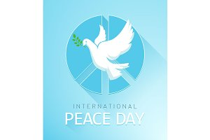 Dove of Peace with olive branch and