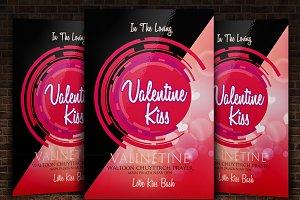 Electro Valentine Flyer Templates