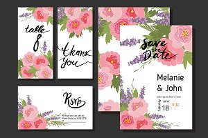 №69 Floral peony and lavender