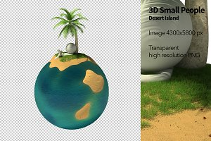 3D Small People - Desert Island