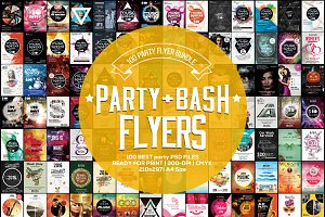 100 Party & Bash Flyer Bundle