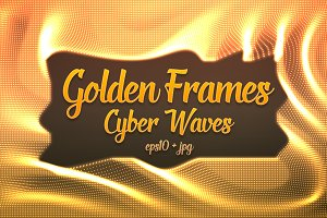 14 Golden Frames Cyber Waves