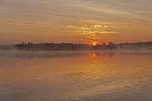 Dawn on the river.