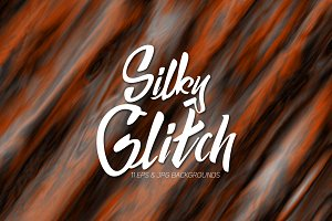 11 Silky Glitch Vector Backgrounds