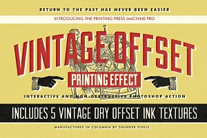 Vintage Offset Printing Effects Kit