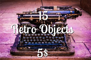 15 Retro Vintage Objects Bundle