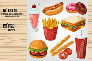 Fast Food Item Set