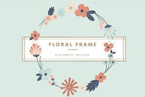 Floral Frame & Overlay