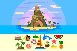Fantastic Summer Paradise Island.