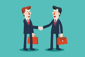 Successful businessmen shake hands