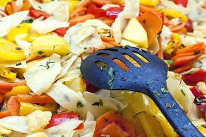Salad of boiled vegetables