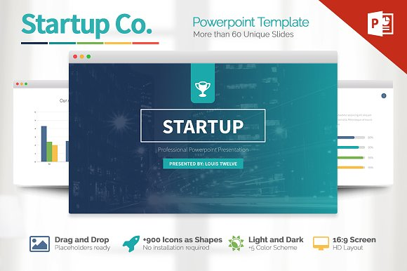 powerpoint theme vs template - startup powerpoint template presentation templates