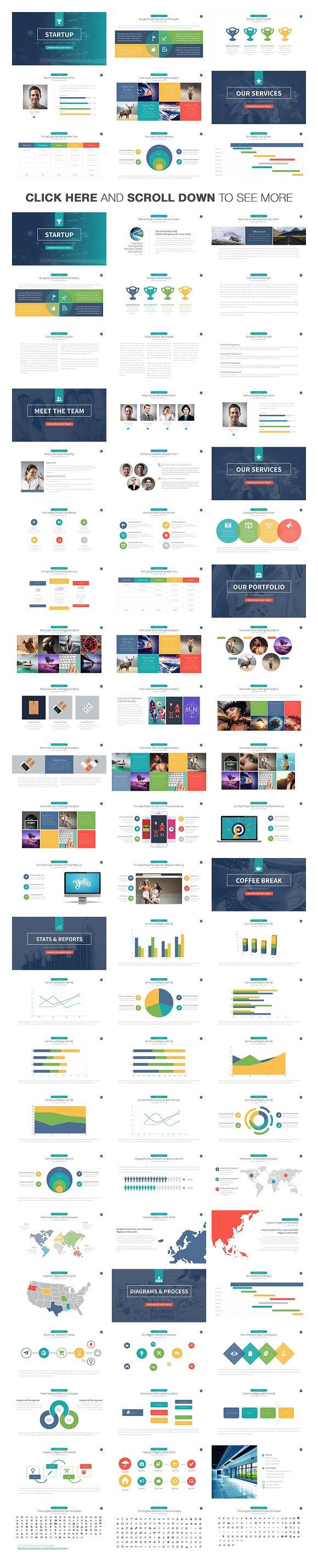 Startup powerpoint template presentation templates creative market toneelgroepblik Images