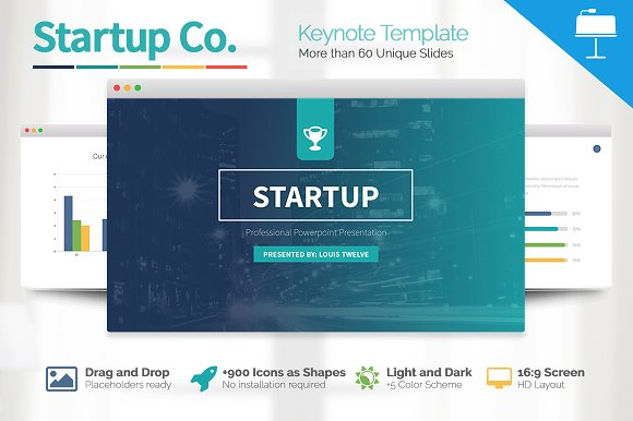 startup business keynote template presentation templates