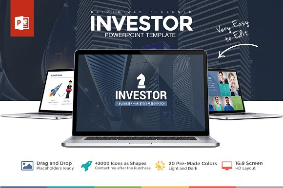 investor pitch deck powerpoint presentation templates creative