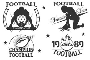 Rugby logos. football. vector