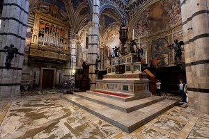 Interior of Siena Cathedral, Italy.