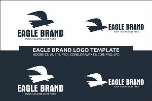 Flying Eagle Brand Logo Template