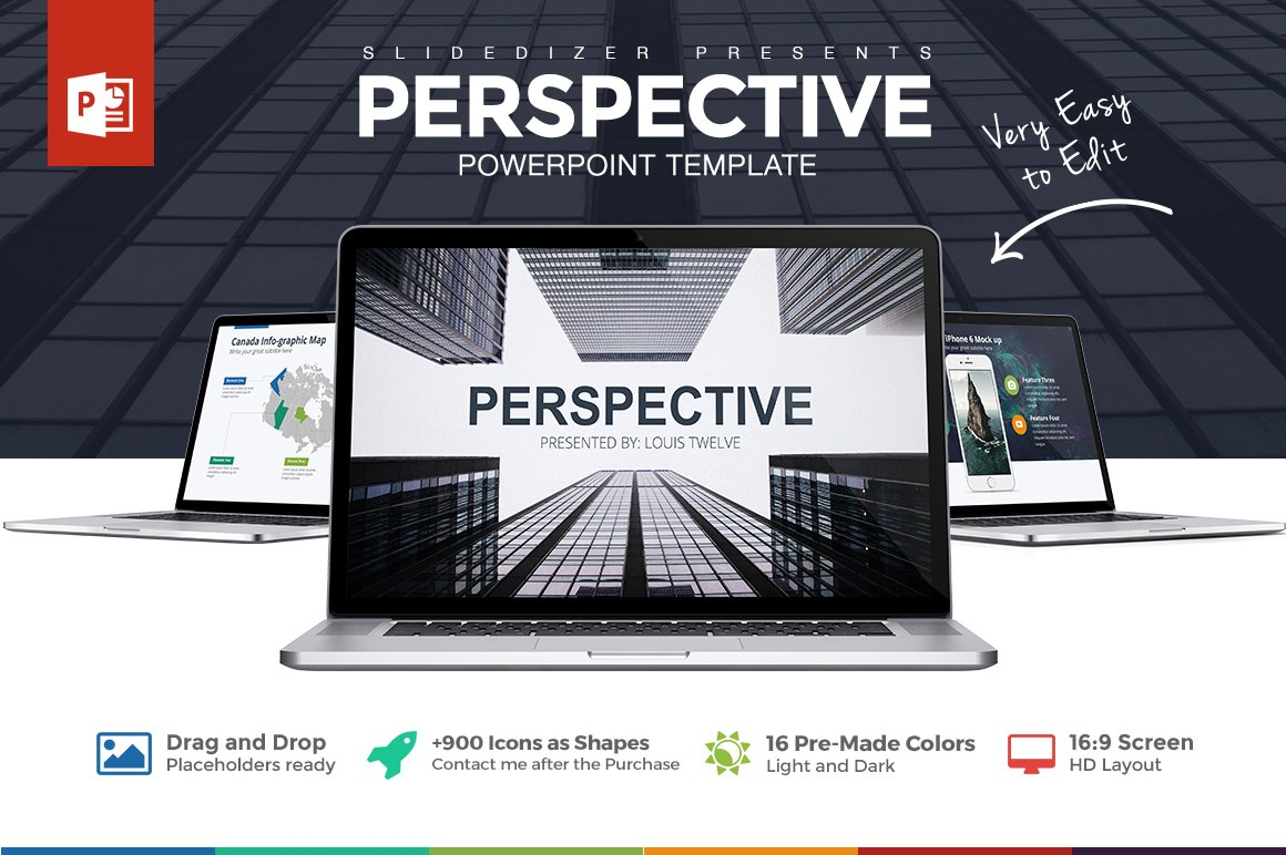 Perspective powerpoint template presentation templates creative perspective powerpoint template presentation templates creative market toneelgroepblik Gallery